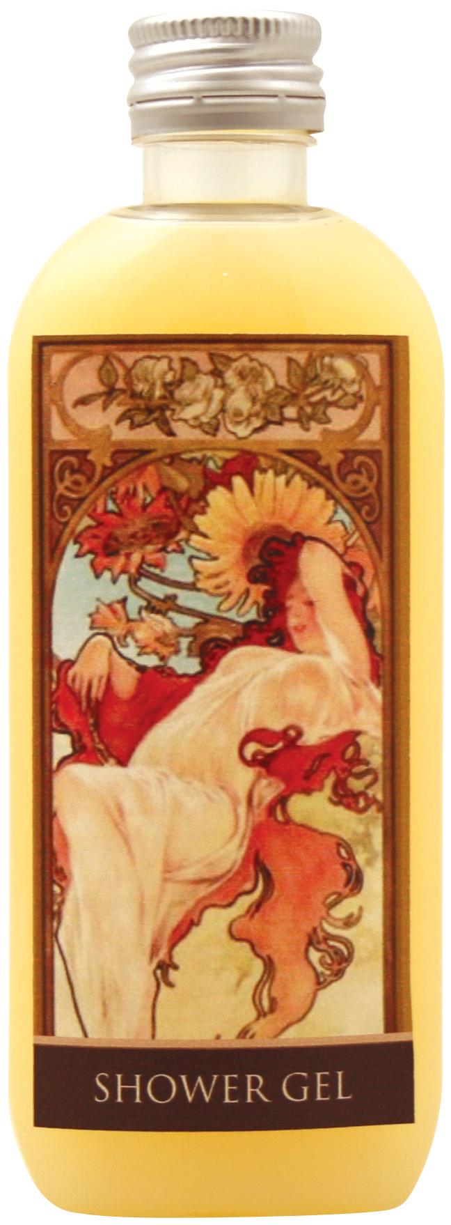 Fotografie Bohemia Gifts & Cosmetics Alfons Mucha Med a obilí krémový sprchový gel 100 ml