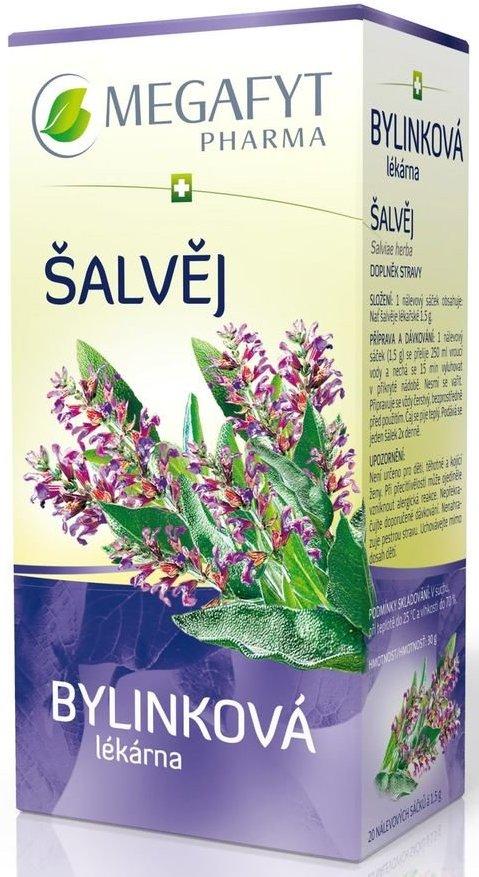 Fotografie Megafyt Bylinková lékárna Šalvěj bylinný čaj 20 x 1,5 g