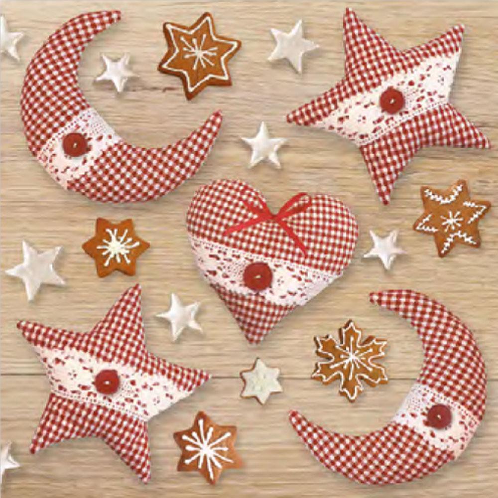 Ditipo Vánoční papírové ubrousky Vánoční látkové ozdoby 33 x 33 cm 3 vrstvé 20 kusů