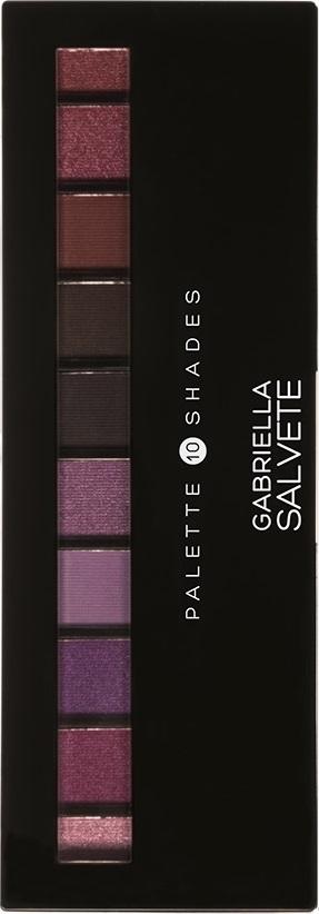 Fotografie Gabriella Salvete Palette 10 Shades paleta očních stínů se zrcátkem a aplikátorem 05 Violet 12 g