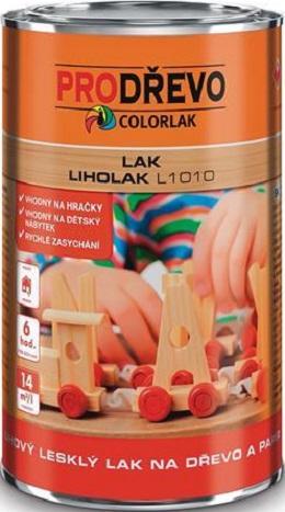 Fotografie Colorlak Liholak L1010 lihový lesklý bezbarvý lak na dřevo a papír 0,75 l