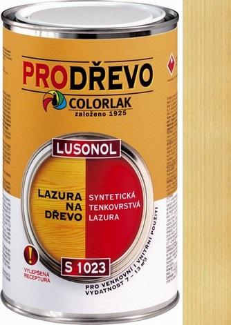 Fotografie Colorlak Lazura Lusonol S1023 synteticná penetrační lazura Bezbarvý 2,5 l