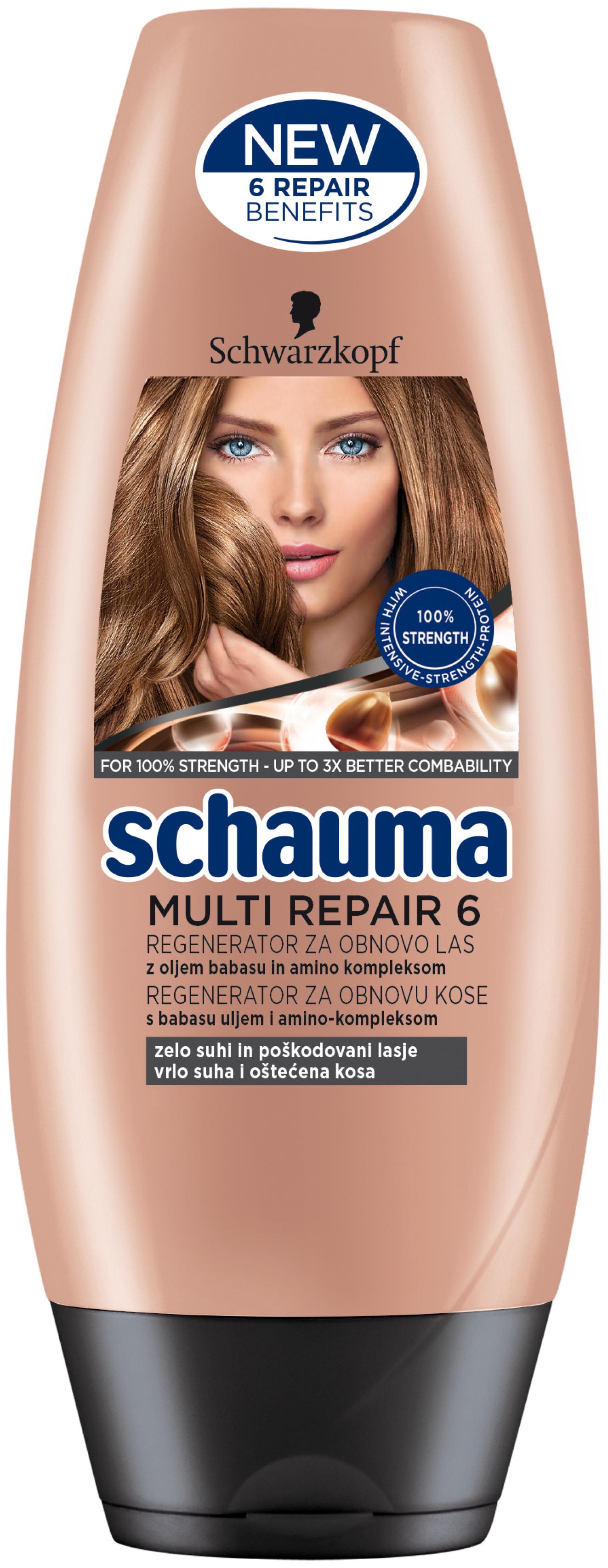 Fotografie Schauma Multi Repair 6 obnovující balzám pro velmi suché a poškozené vlasy 200 ml