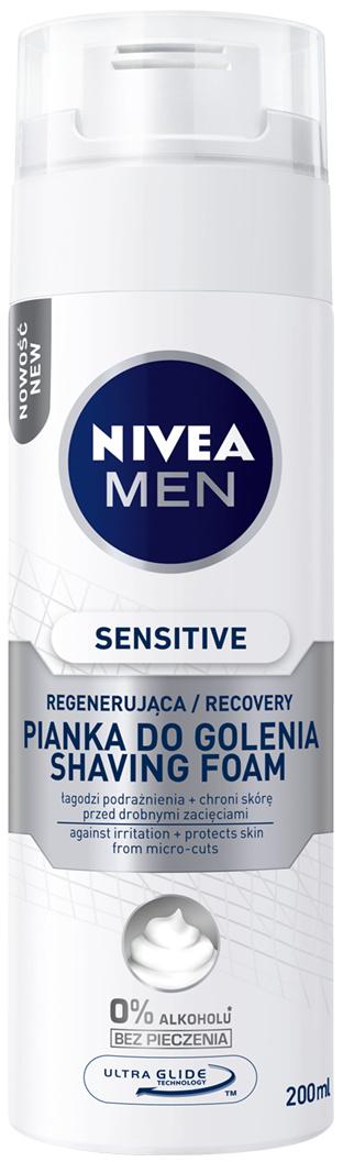 Fotografie Nivea Men Sensitive Recovery pěna na holení 200 ml