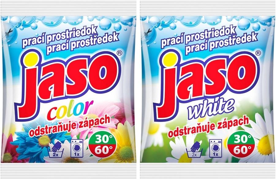 Fotografie Jaso Color prací prostředek na barevné prádlo 80 g + White prací prostředek na bílé prádlo 80 g