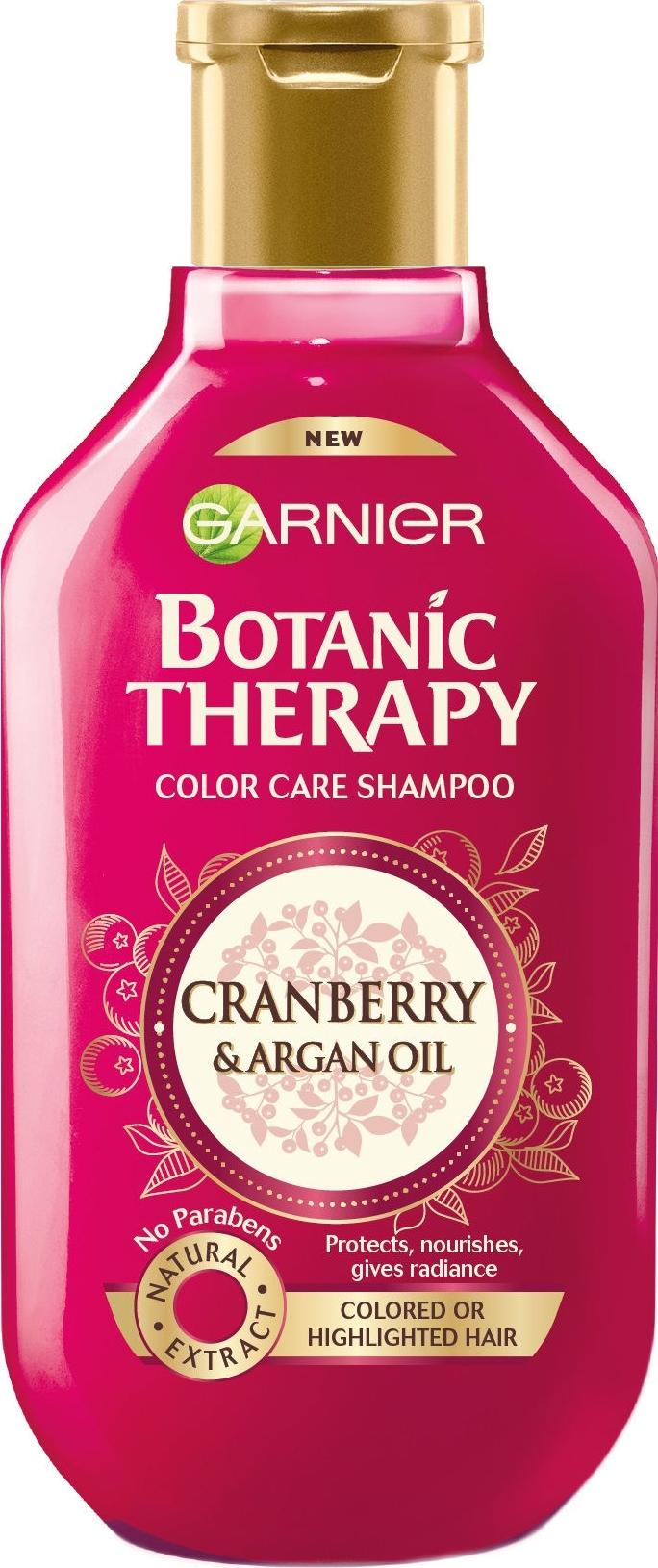 Garnier Botanic Therapy Cranberry & Argan Oil šampon pro barvené a zesvětlené vlasy 250 ml