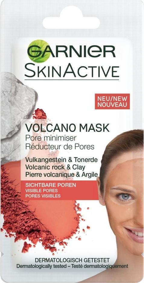 Fotografie Garnier Skin Active Volcano Mask hřejivá pleťová maska stahující rozšířené póry 8 ml