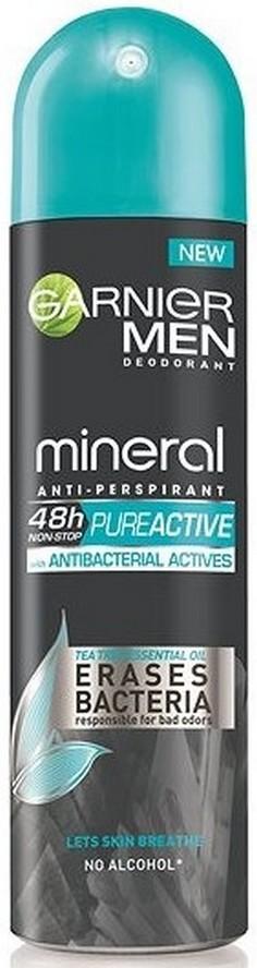 Garnier Men Mineral Pure Active Antibacterial Actives 48h antiperspirant deodorant sprej pro muže 150 ml