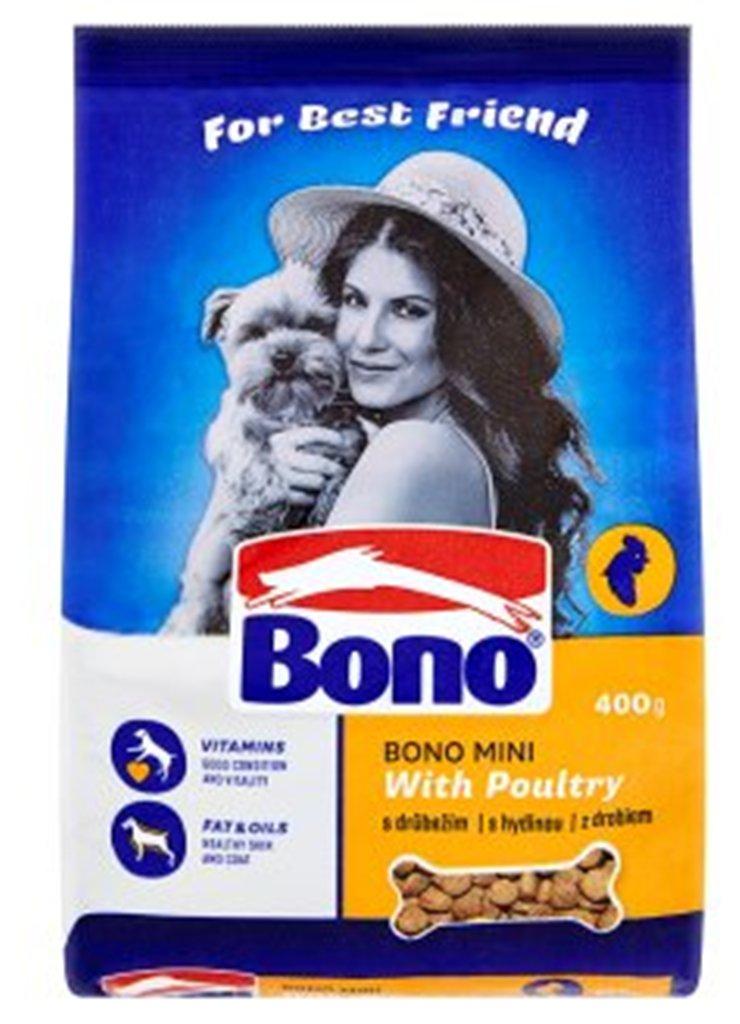 Bono Adult Mini s drůbežím kompletní krmivo pro psy 400 g