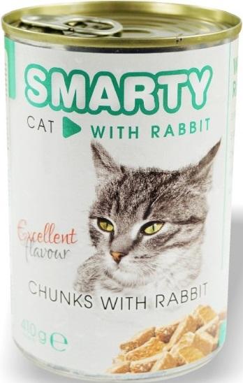 Smarty Chunks Cat s králíkem kompletní krmivo pro kočky 410 g