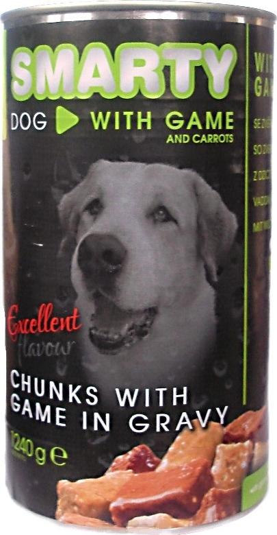 Smarty Chunks Dog se zvěřinou kompletní krmivo pro psy 1240 g