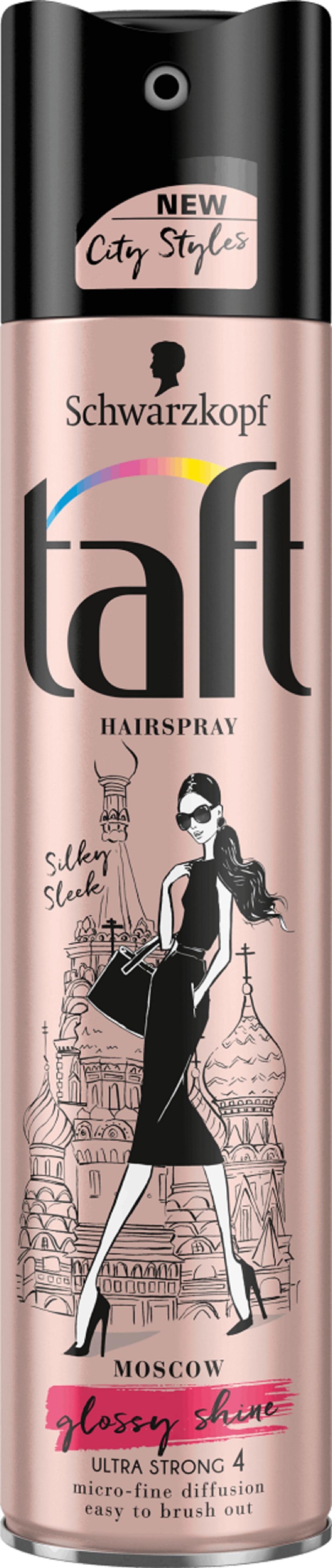 Taft City Styles Moscow Silky Sleek Glossy Shine ultra silná fixace 4 lak na vlasy 250 ml