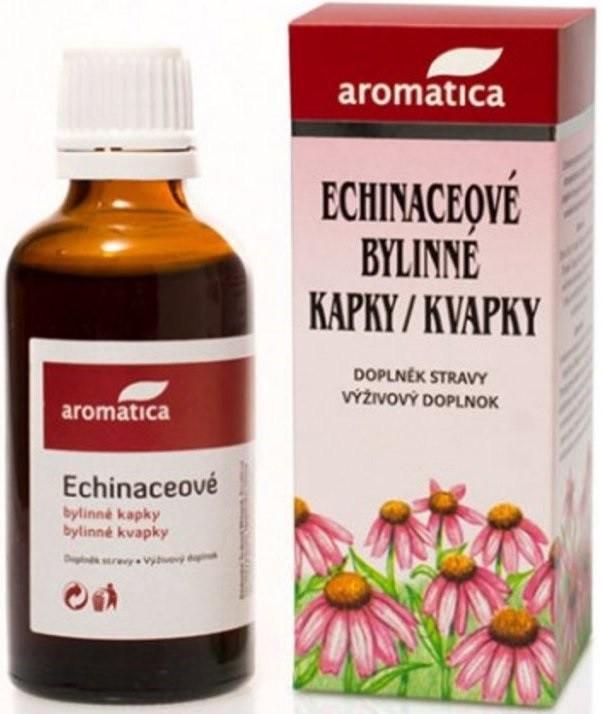 Fotografie Aromatica Echinaceové bylinné kapky pro přirozenou obranyschopnost od 3 let 100 ml
