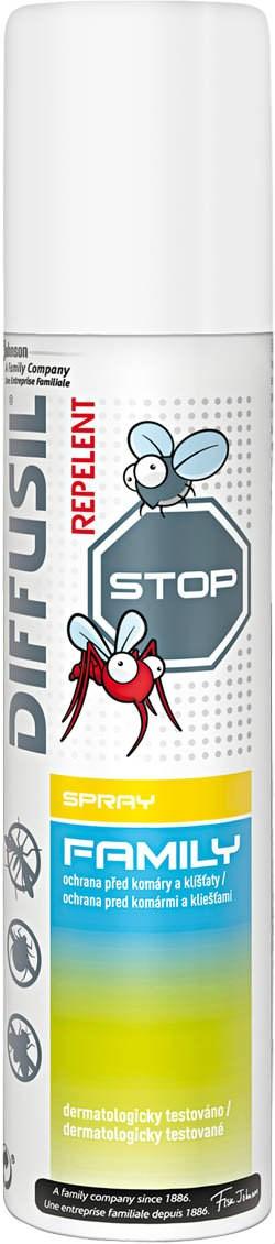 Fotografie Diffusil Family repelent proti komárům a klíšťatům sprej 100 ml