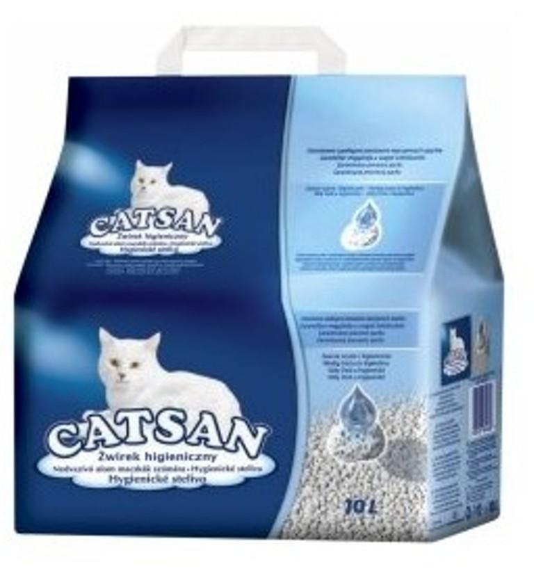 Fotografie Catsan Speciální stelivo určené nejen pro bílé kočky 10 l