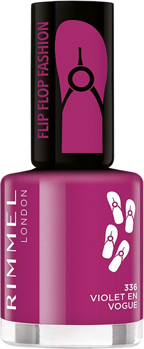 Rimmel London 60 Seconds Flip Flop lak na nehty 336 Violet en Vogue 8 ml