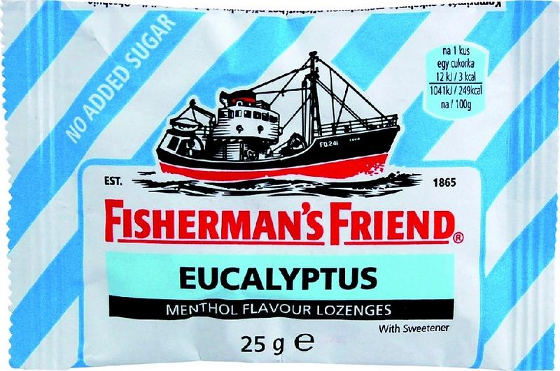Fishermans Friend bonbóny dia eukalyptus modré 25 g