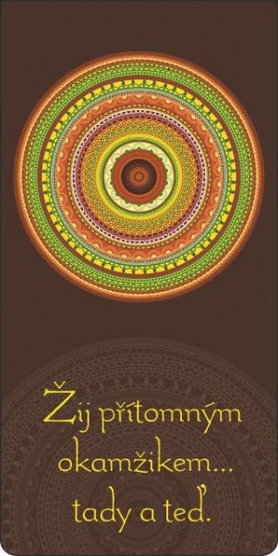 Fotografie Albi Magnetická záložka do knížky Barevná mandala 8,7 x 4,4 cm