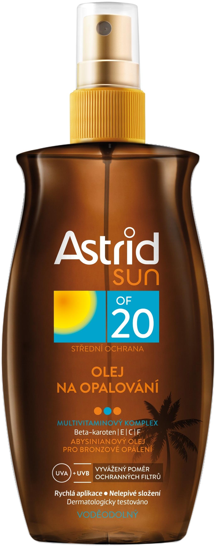 Fotografie Astrid Olej na opalování OF 20 Sun 200 ml
