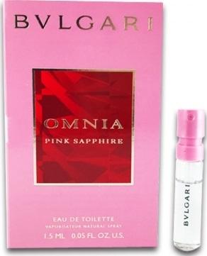 Bvlgari Omnia Pink Sapphire toaletní voda pro ženy 1,5 ml s rozprašovačem, Vialka