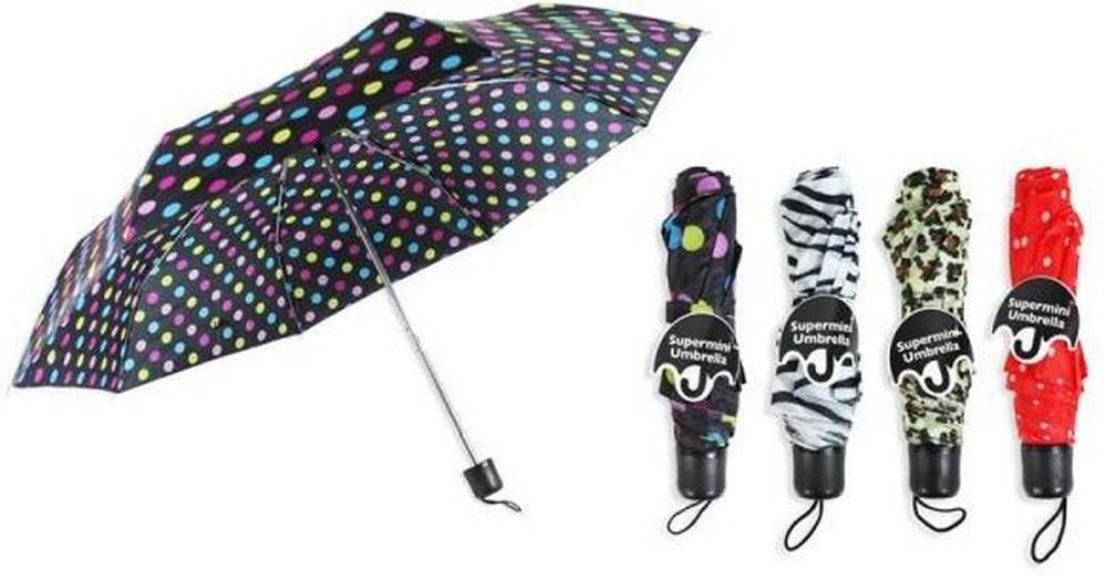 Fotografie RSW Deštník mini barevný se vzorem 1 kus