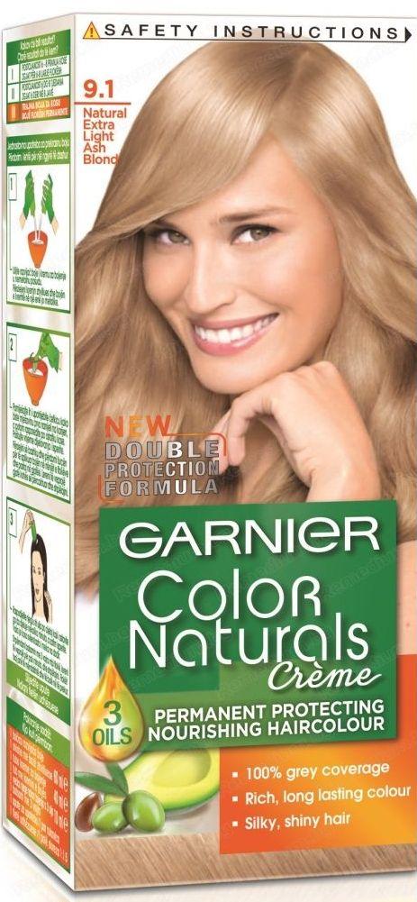 Fotografie Garnier Color Naturals Créme barva na vlasy 9.1 Velmi světlá blond popelavá