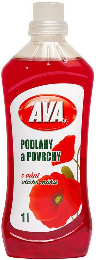 Fotografie Ava Vlčí mák univerzální tekutý čistící prostředek na podlahy a jiné omyvatelné povrchy 1 l