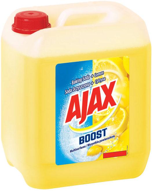 Fotografie Ajax Boost Baking Soda a Lemon univerzální čisticí prostředek 5 l