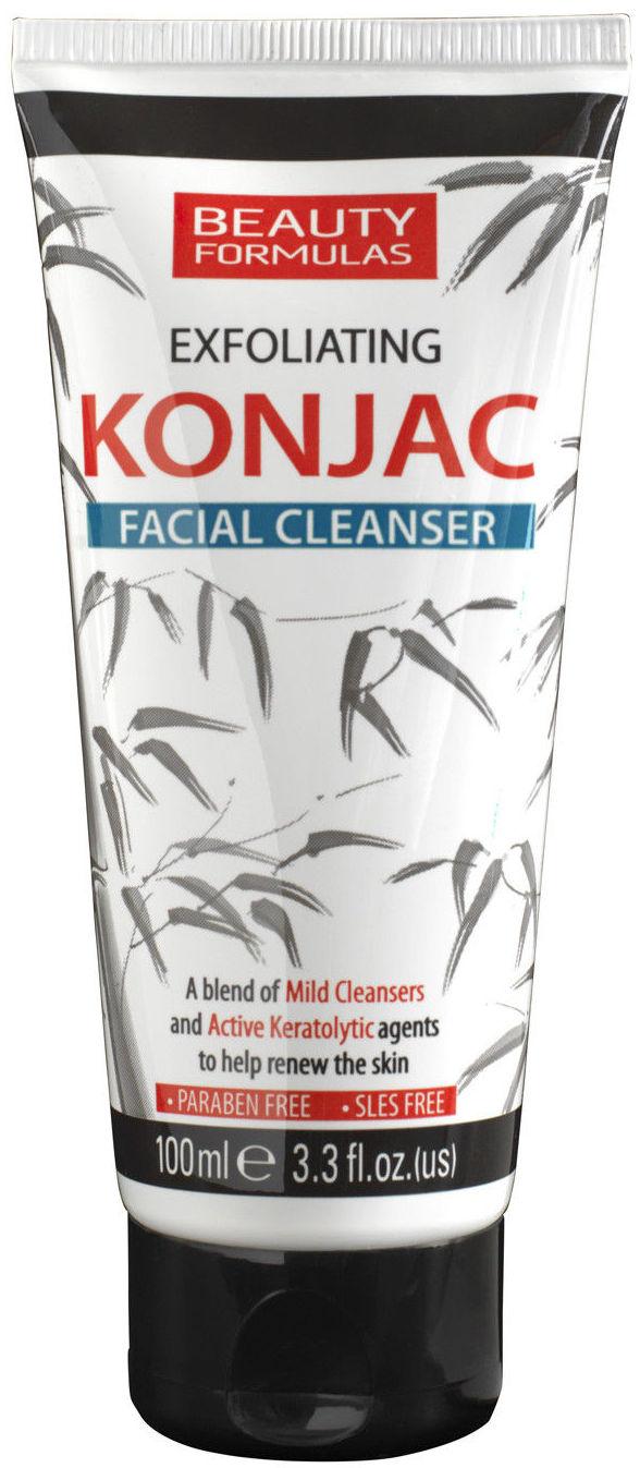 Fotografie Beauty Formulas Konjac exfoliační čistič pleti, čistící pleťový gel 100 ml