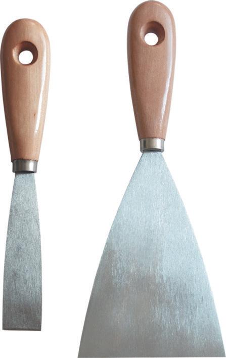 Spokar Špachtle malířská Hobby, broušená ocel, dřevěné držadlo 80 mm