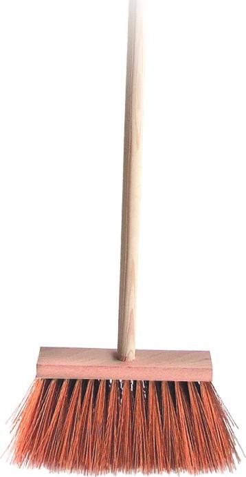 Spokar Koště zatloukané s holí, syntetické vlákna (PVC), hůl 120 cm