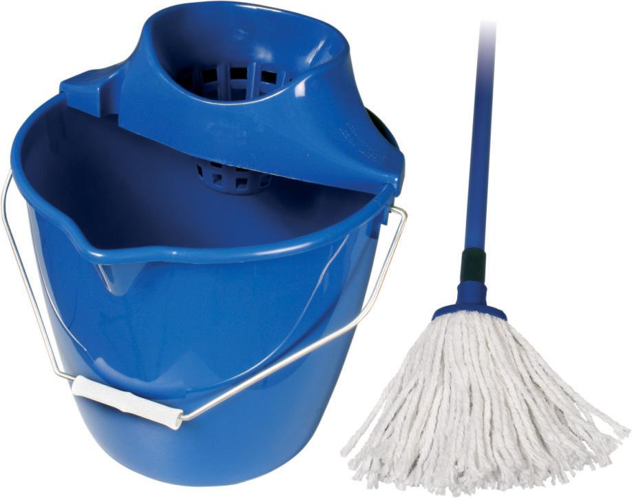 Spokar Úklidová souprava Cotton kbelík, ždímač, mop Modrá 1 sada