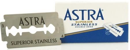 Fotografie Astra Superior Stainless náhradní žiletky 5 kusů