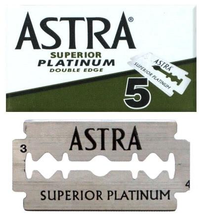 Fotografie Astra Superior Platinum náhradní žiletky 5 kusů