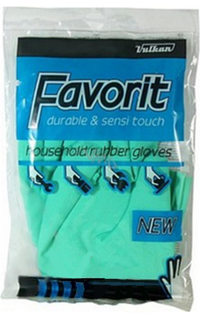 Vulkan Favorit Latexové rukavice gumové velikost S č.7