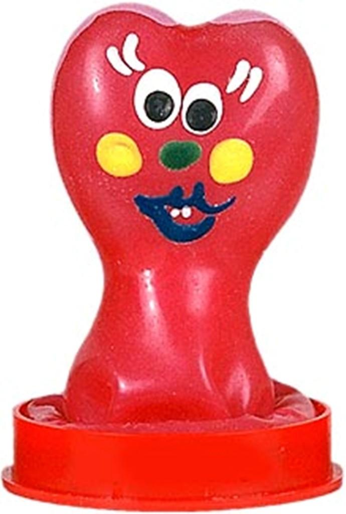 Fotografie Erco Erotic Funny Srdeční žertovný prezervativ v kopulce 1 kus