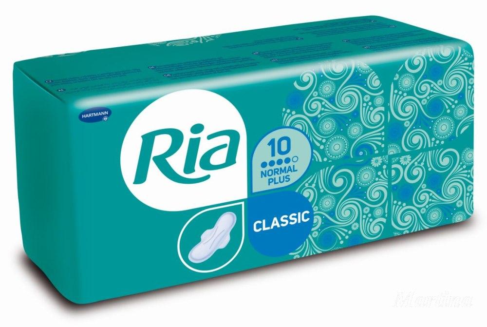 Fotografie Ria Classic Normal Plus hygienické vložky s křidélky 10 kusů
