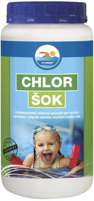Fotografie Probazen Chlor Šok 1,2 kg přípravek pro úpravu vody v bazénech
