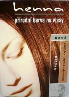 Fotografie Důbrava Henna přírodní barva na vlasy Kaštan 117 prášková 33 g