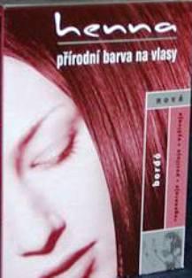 Fotografie Důbrava Henna přírodní barva na vlasy Bordó 121 prášková 33 g