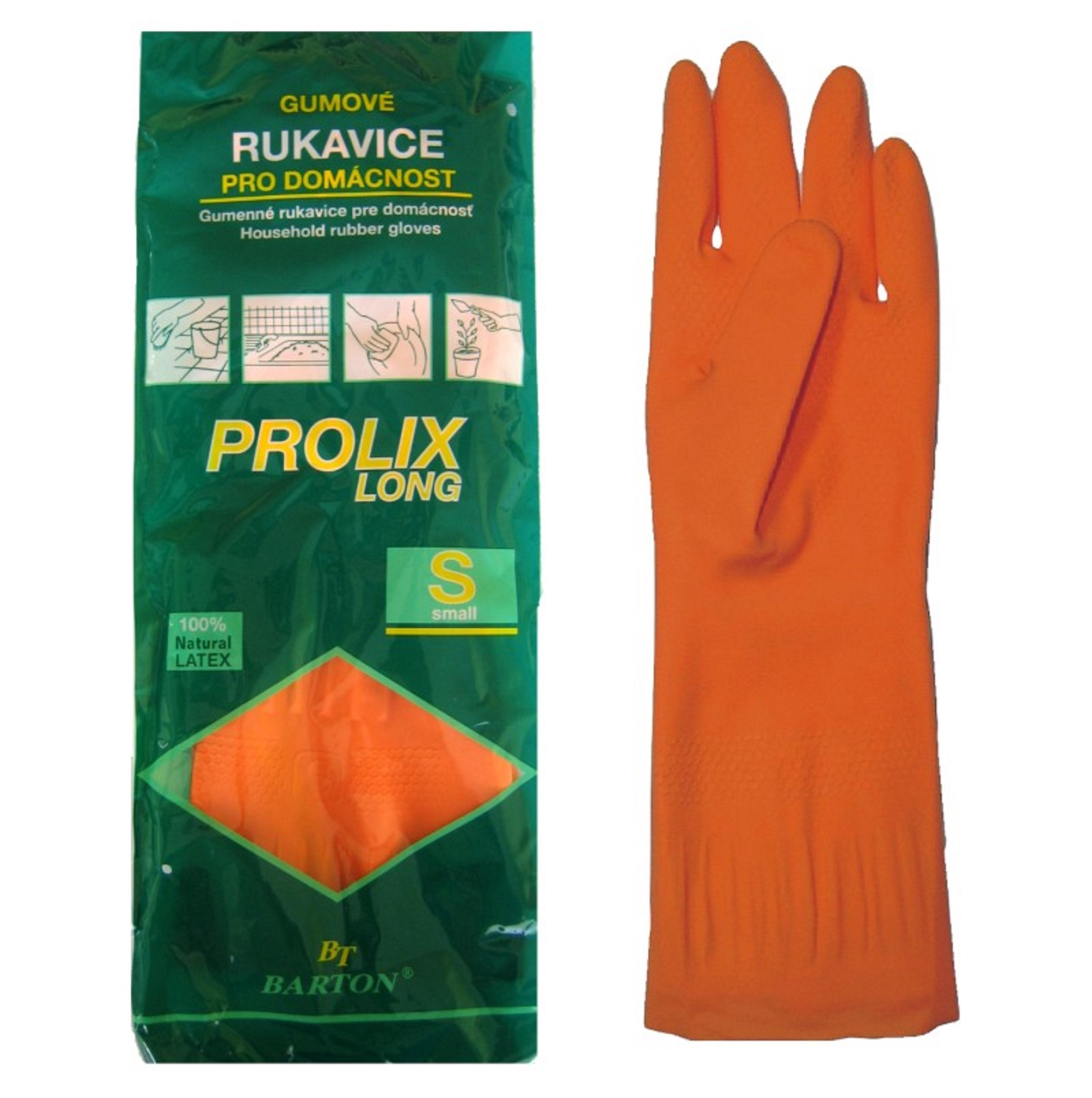 Bartoň Prolix Rukavice gumové velikost S praktické, ochranné rukavice 1 pár