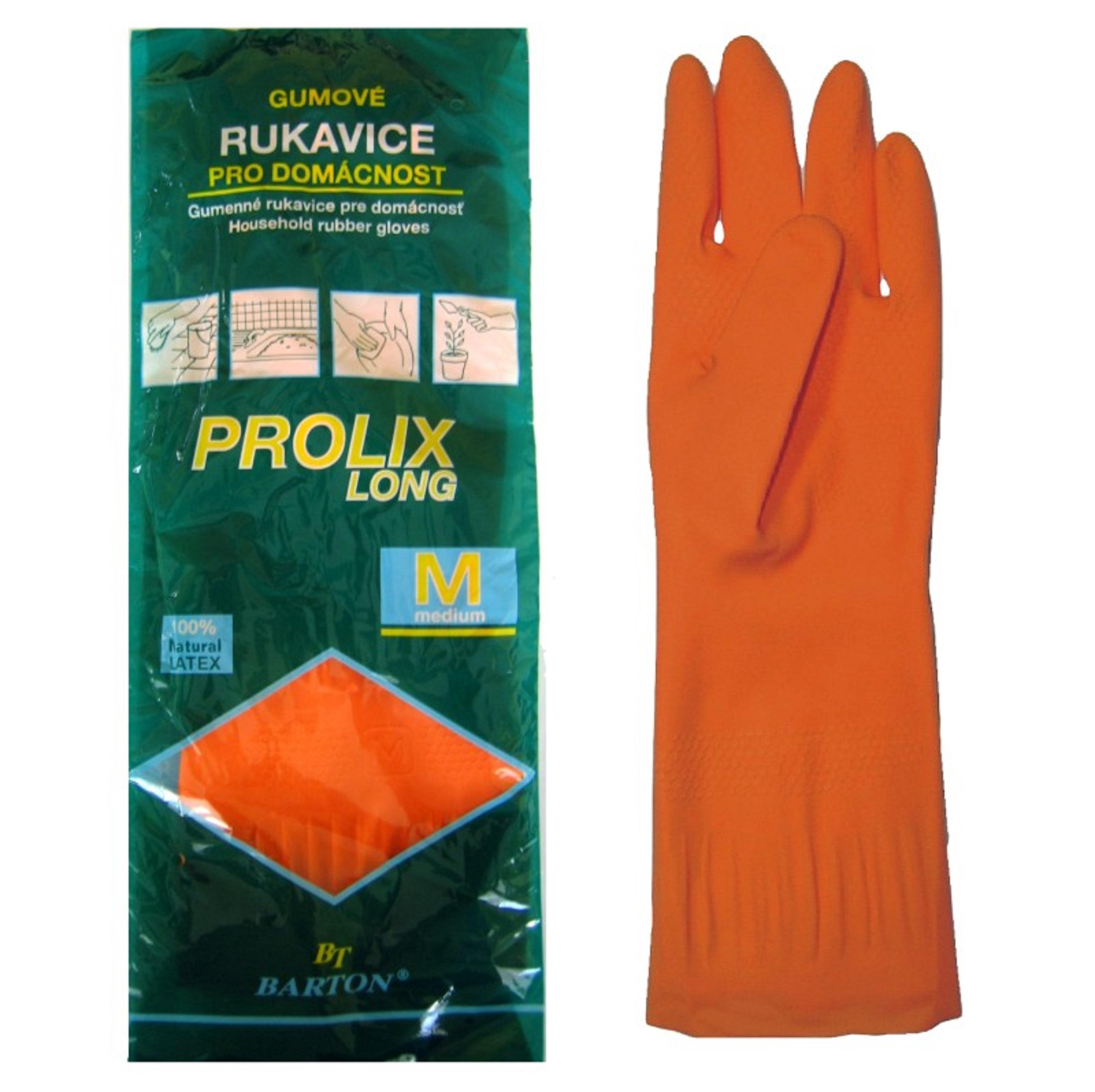 Bartoň Prolix Rukavice gumové velikost M praktické, ochranné rukavice 1 pár