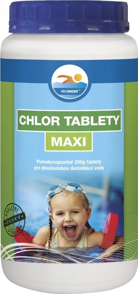 Fotografie Probazen Chlor tablety Maxi přípravek pro úpravu vody v bazénech 1 kg