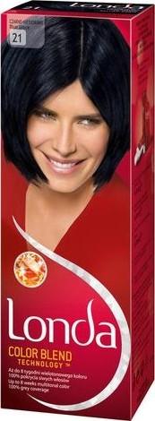 Fotografie Londa Color Blend Technology barva na vlasy 21 modročerná