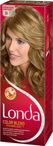 Fotografie Londa Color Blend Technology barva na vlasy 38 béžově plavá