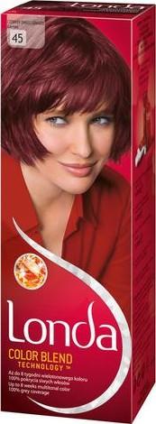 Fotografie Londa Color Blend Technology barva na vlasy 45 granátově červená