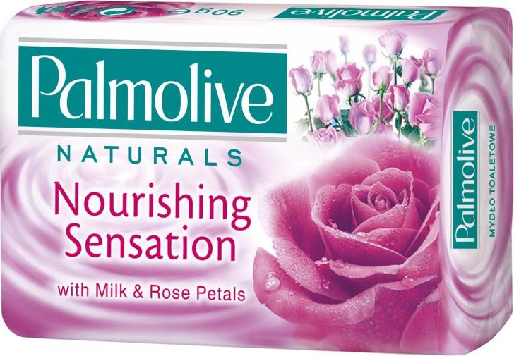 Fotografie Palmolive Naturals Milk & Rose tuhé toaletní mýdlo 90 g