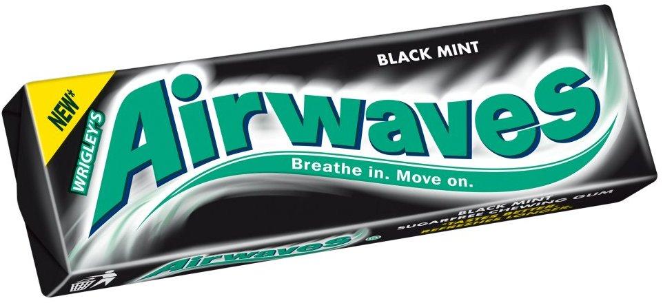 Wrigleys Airwaves Black Mint žvýkačka dražé 10 kusů