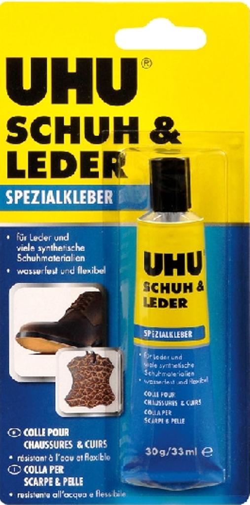 Fotografie Uhu Schuh & Leder lepidlo na obuv a kožené výrobky 30 g