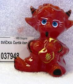 Lima čertík svíčka červená 1 kus